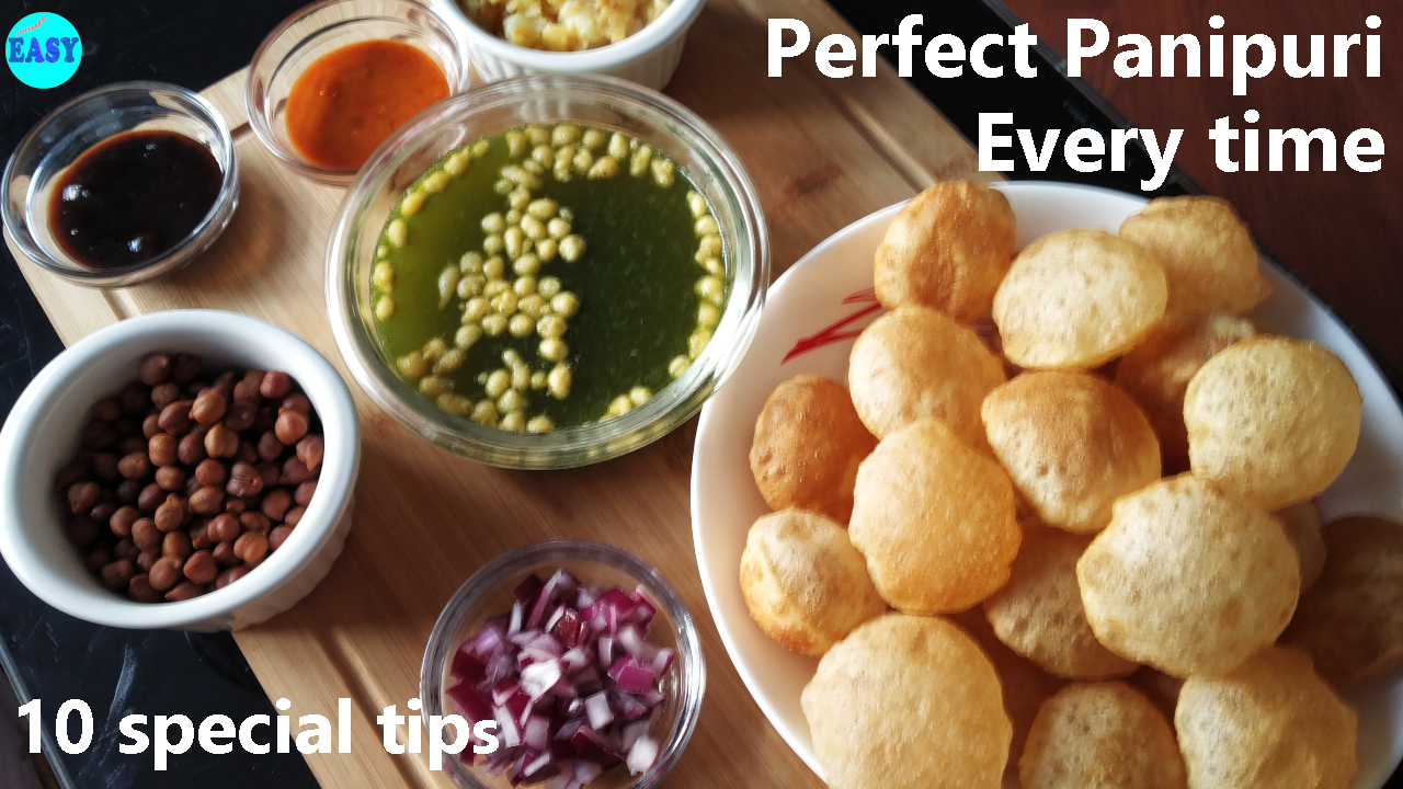 Panipuri recipe | Golgappa recipe | How to make puri for pani puri